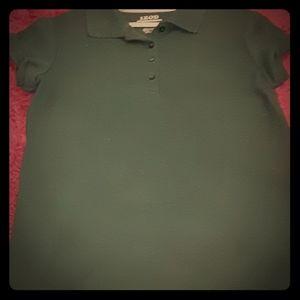 Green uniform polo shirt